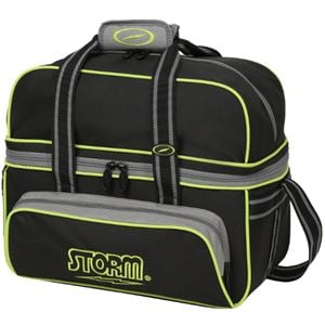 Storm 2 Ball Deluxe Tote Black Grey Lime