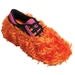 Fun Shoe Covers Fuzzy Orange