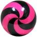 Spiral Pink/Black Viz-A-Ball