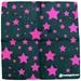 Pink Stars Suede Microfiber Bowling Towel