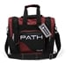Path Single Deluxe Tote Black/Burgundy